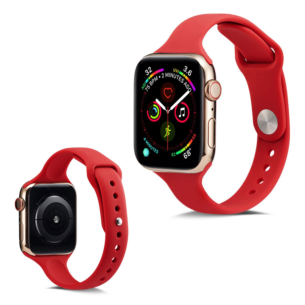 Apple Watch Series 5 44mm simple silicone watch band - Watermelon Red