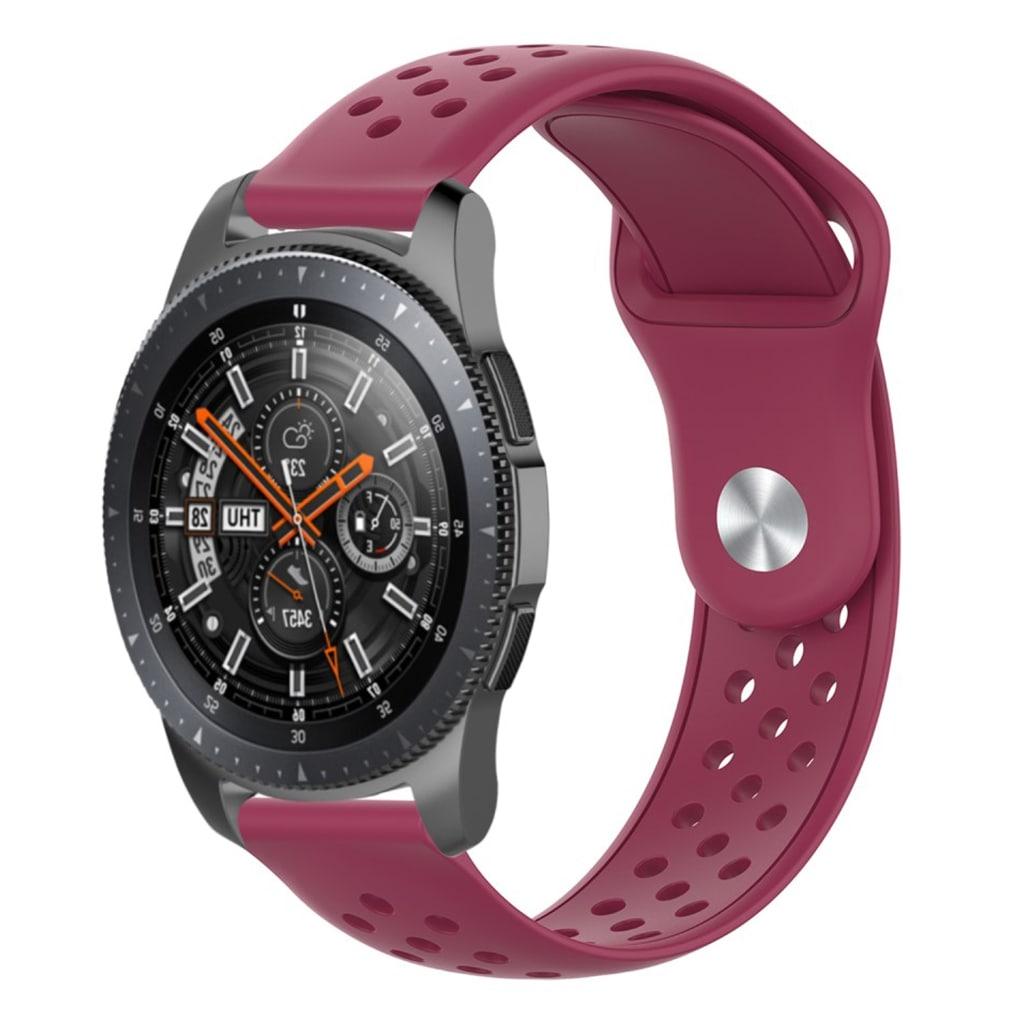 22mm Samsung Galaxy Watch (46mm) silicone watch band - Wine Red