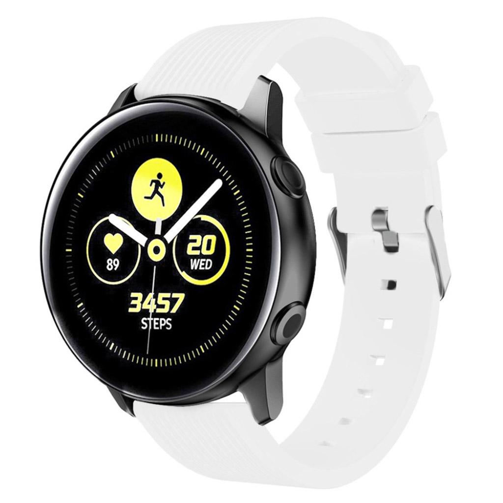 Samsung Galaxy Watch Active Stribe silikone Urrem - Hvid