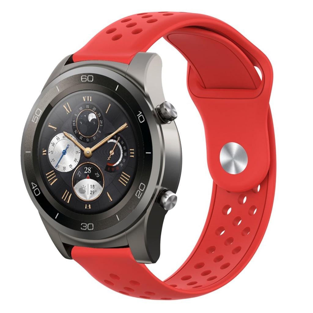 22mm Huawei Watch 2 Pro silikone Urrem - Rød