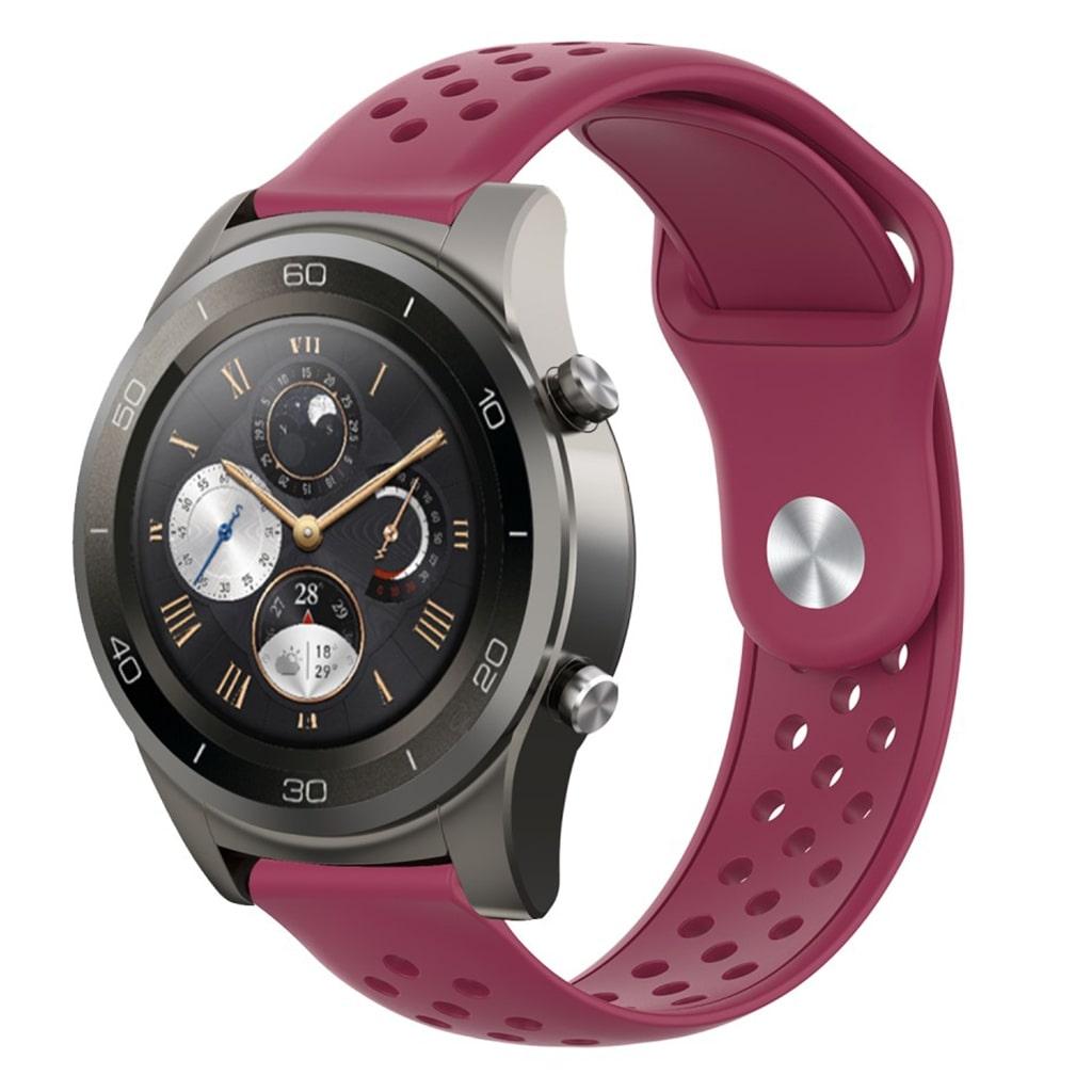 22mm Huawei Watch 2 Pro silikone Urrem - Vinrød