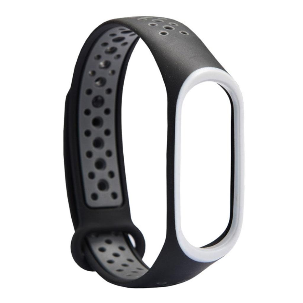 Image of   Xiaomi Mi Band 3 two-tone flexible watch band replacement - Dark Grey / Black