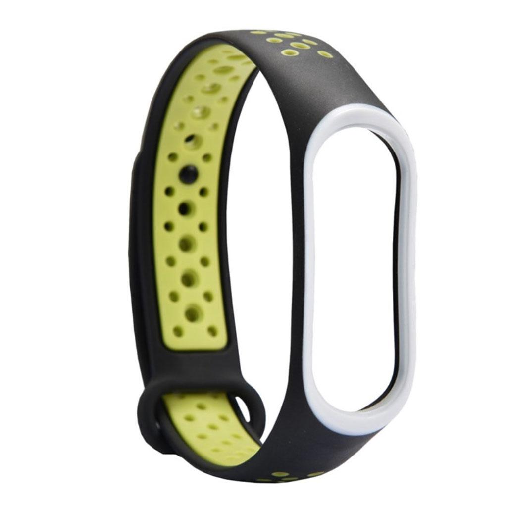 Image of   Xiaomi Mi Band 3 two-tone flexible watch band replacement - Green / Black