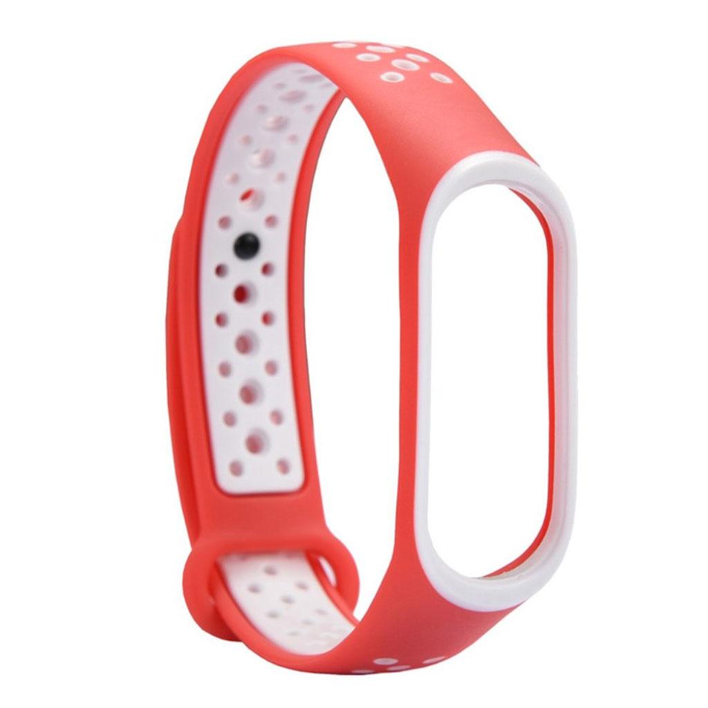 Image of   Xiaomi Mi Band 3 two-tone flexible watch band replacement - White / Orange