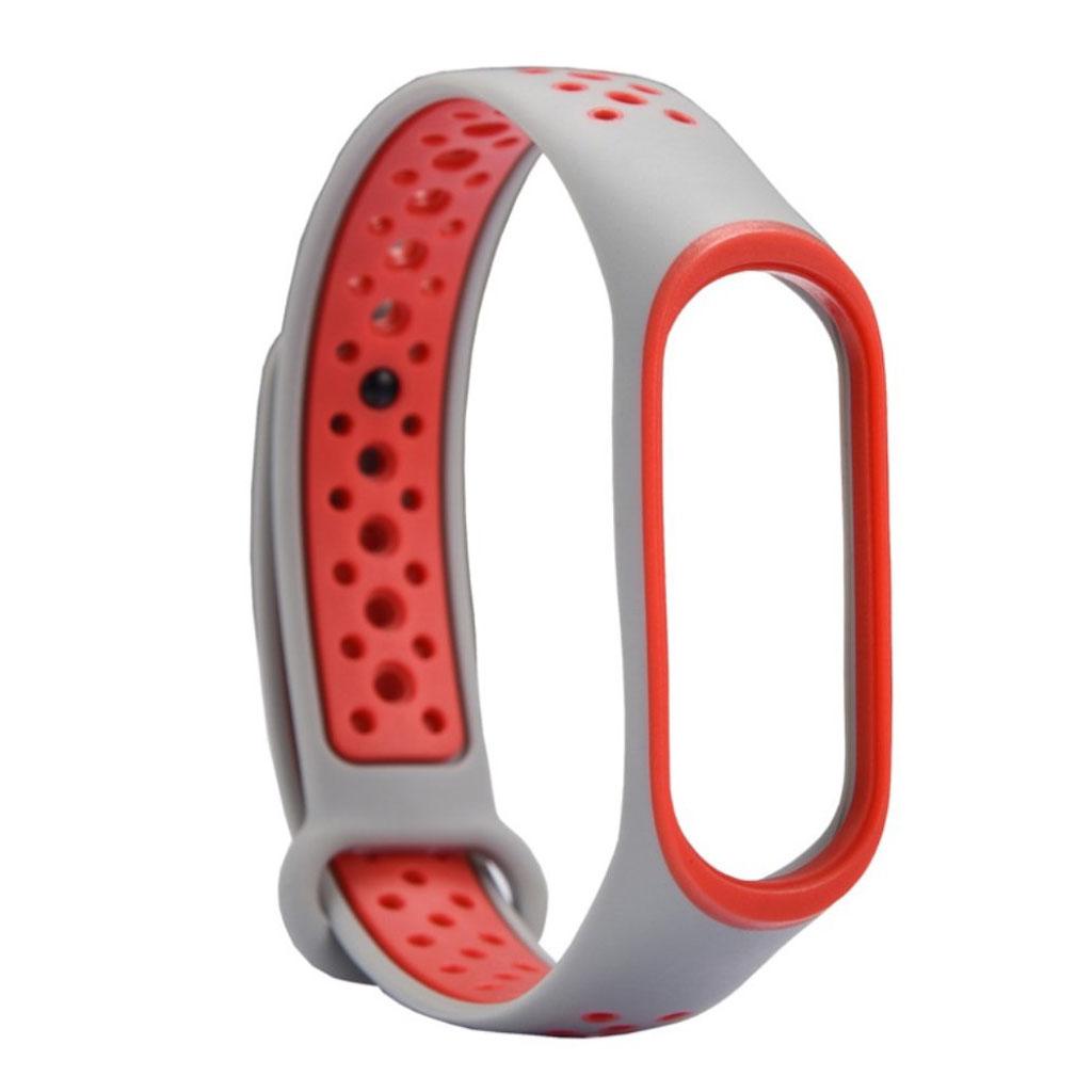 Image of   Xiaomi Mi Band 3 two-tone flexible watch band replacement - Orange / Light Grey