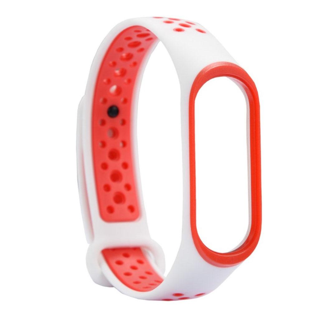 Image of   Xiaomi Mi Band 3 two-tone flexible watch band replacement - Orange / White