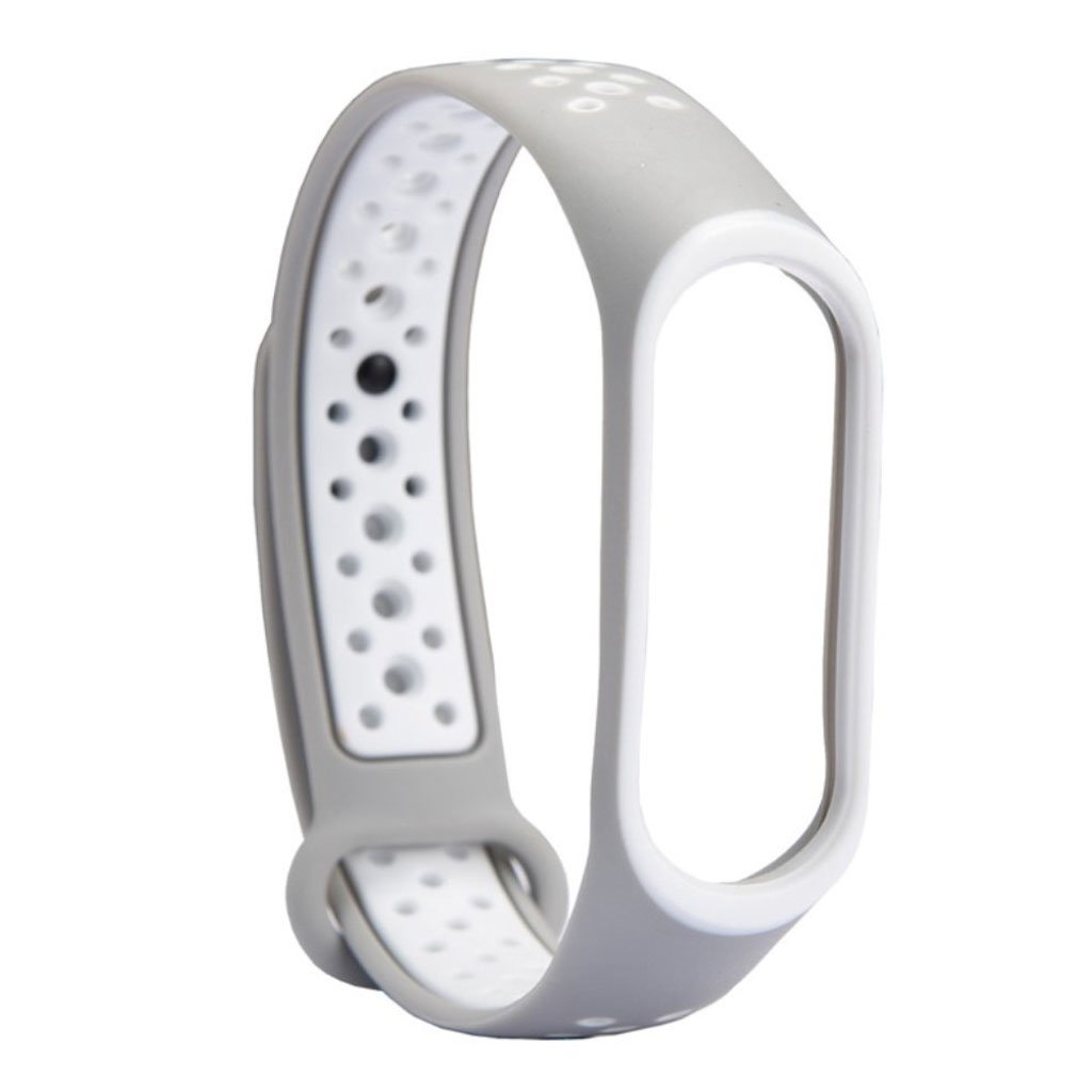 Image of   Xiaomi Mi Band 3 two-tone flexible watch band replacement - White / Light Grey