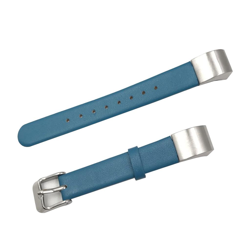 Image of   Fitbit Alta læderarmbånd med spænde - Blå