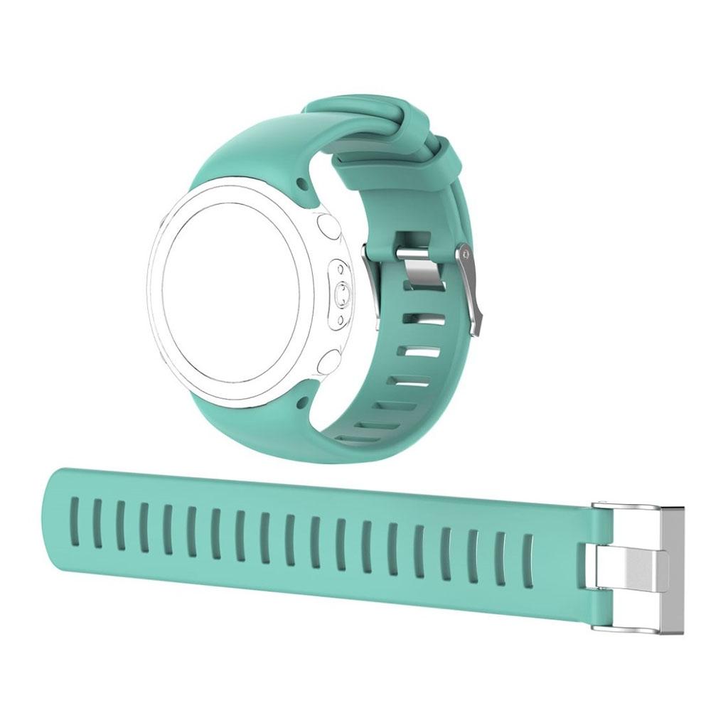 Image of   Suunto D4i Novo flexible soft silicone watchband - Cyan