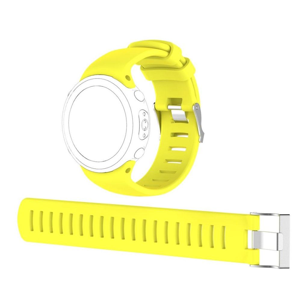Image of   Suunto D4i Novo flexible soft silicone watchband - Yellow