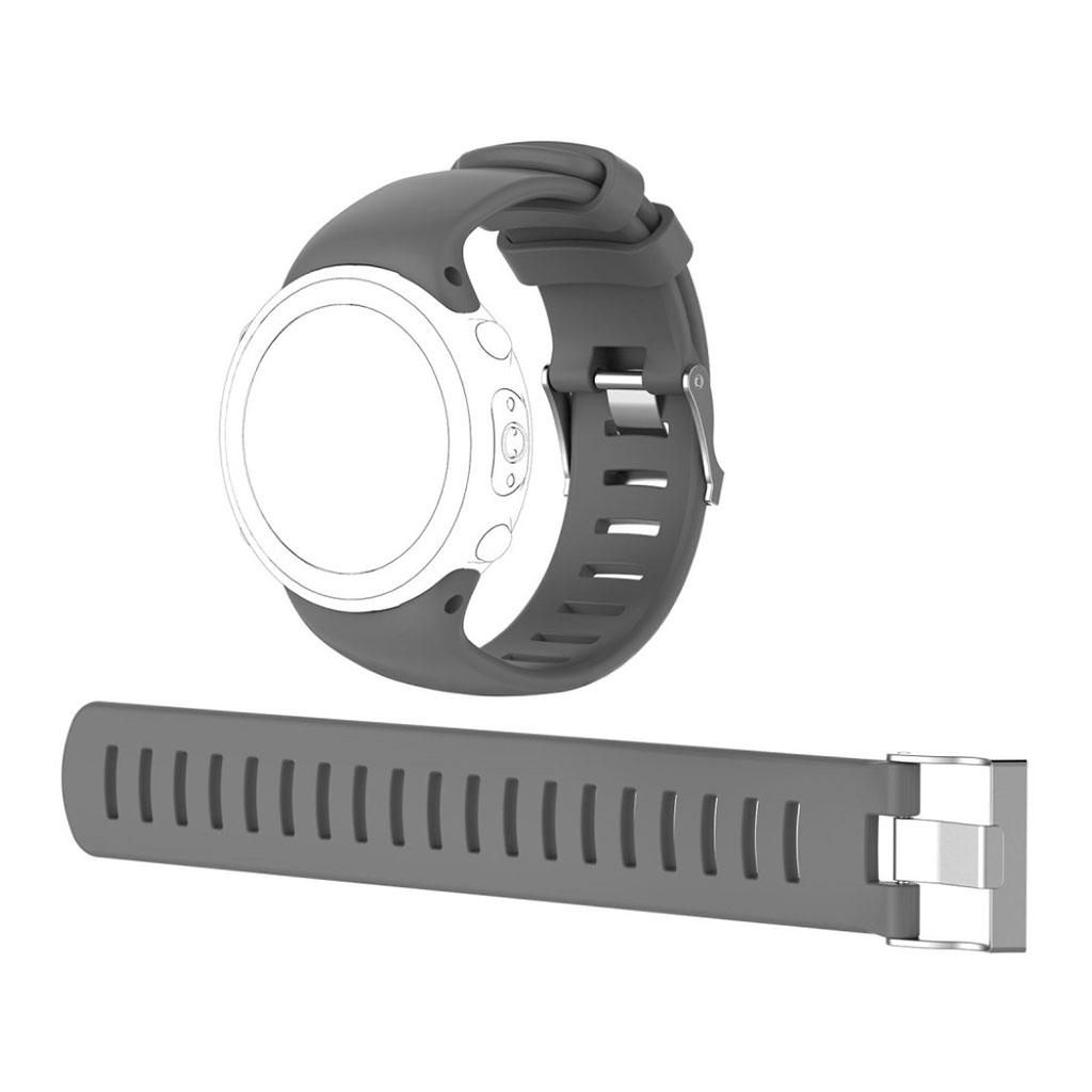 Image of   Suunto D4i Novo flexible soft silicone watchband - Grey