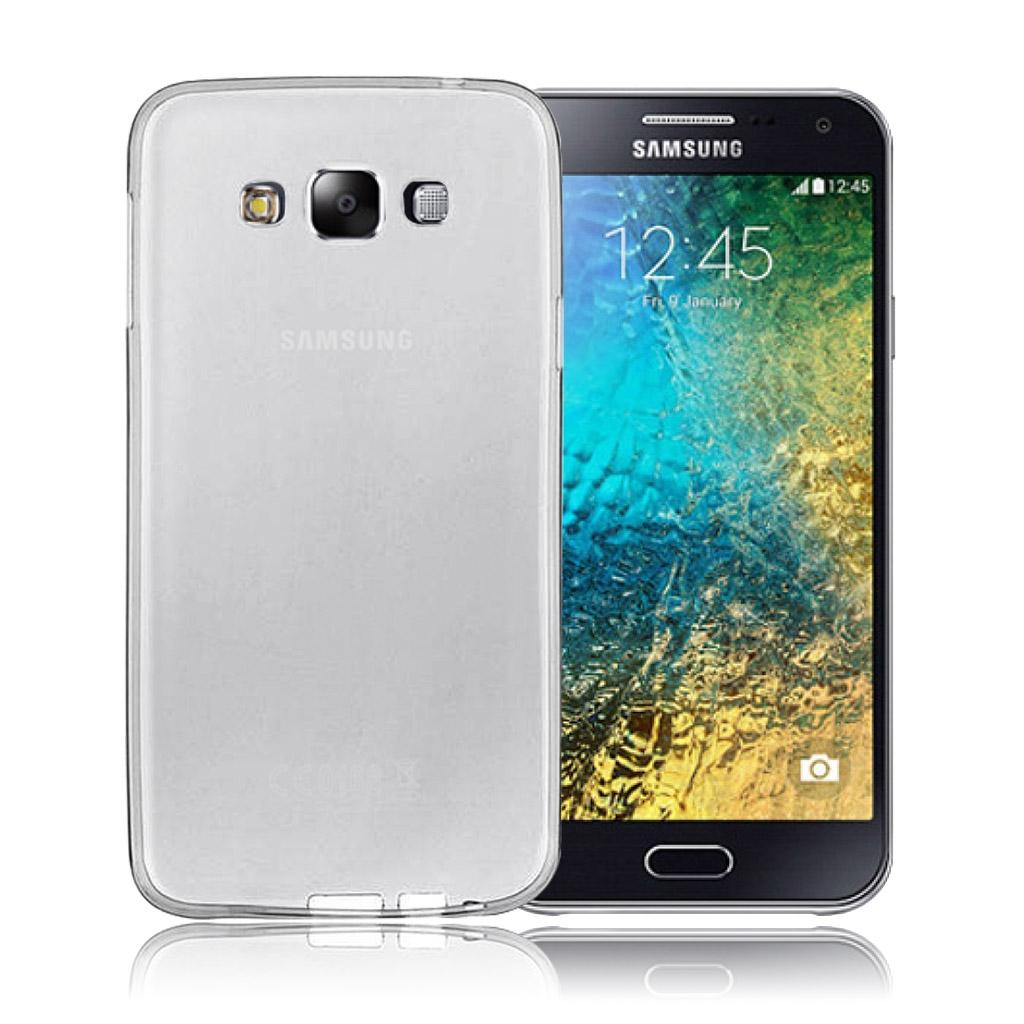 Image of   Samsung Galaxy E5 Transparent Plast Cover (Blødt)