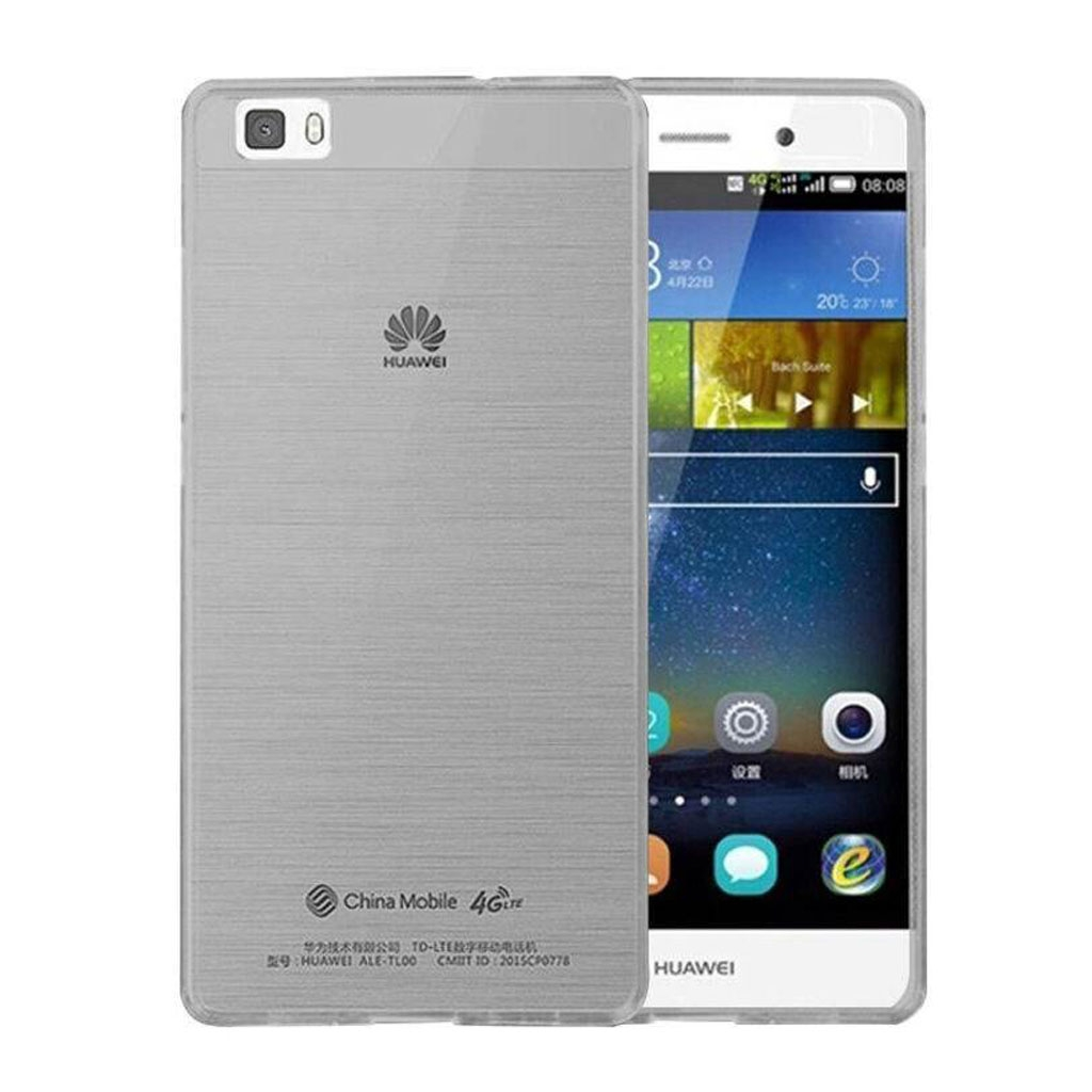 Image of   Huawei Ascend P8 Lite Transparent Plast Cover (Blødt) (Grå)