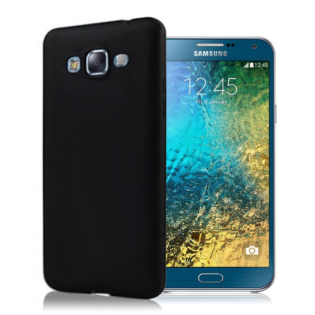 Image of   Samsung Galaxy E7 Plast Cover (Blødt) (Sort)