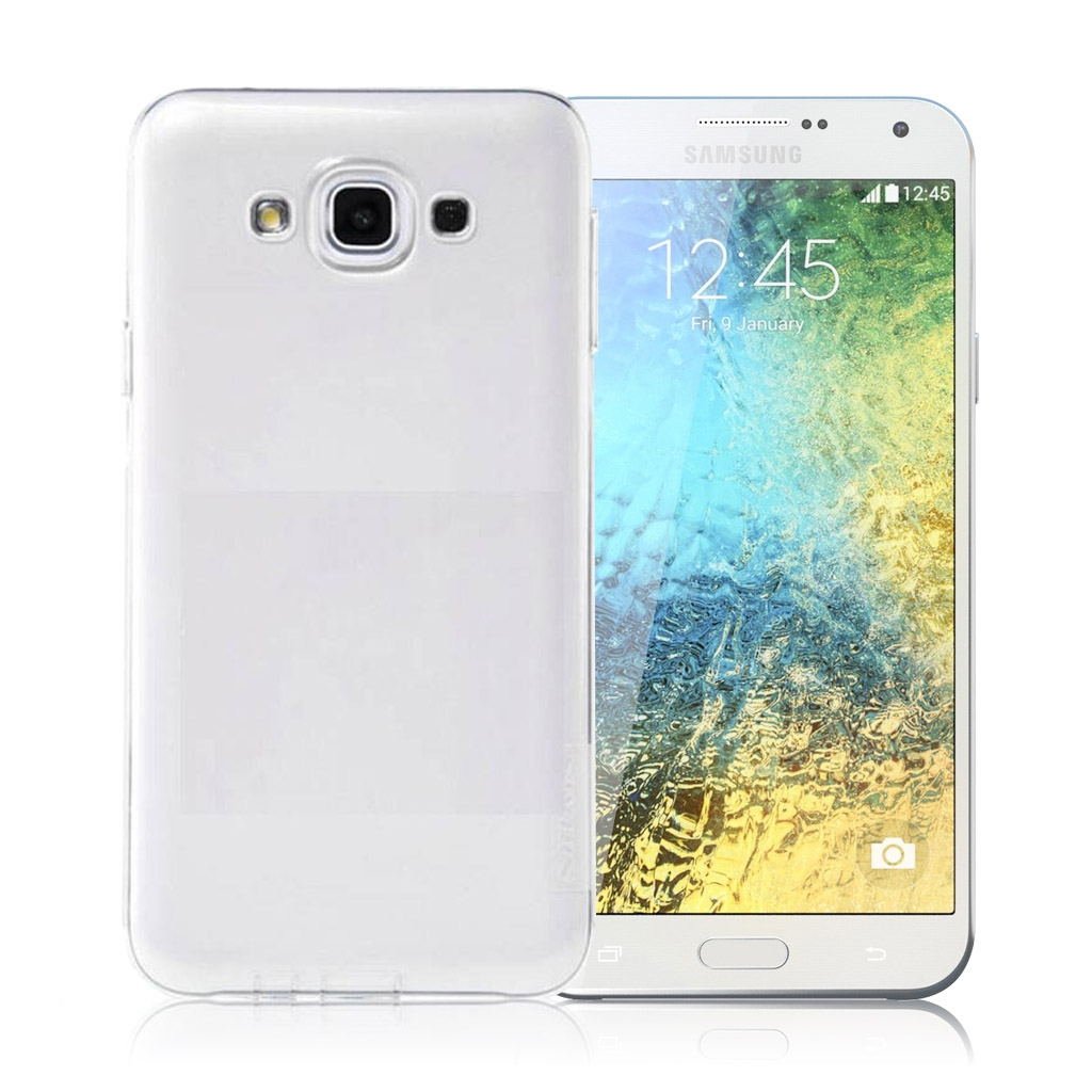 Image of   Samsung Galaxy E7 Transparent Plast Cover (Blødt)