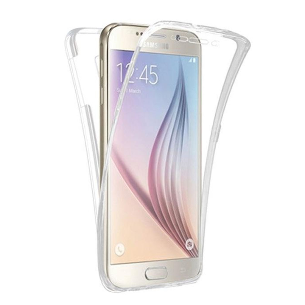 Image of   Samsung Galaxy S6 Edge Transparent Plast Cover (Blødt) (360 Grader)