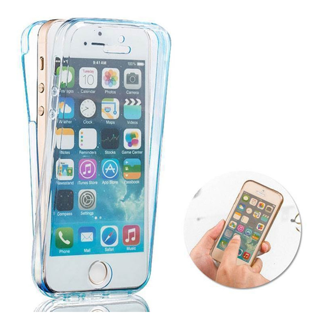 Image of   iPhone 5/5S/5SE Transparent plast cover (Blødt) (360 Grader)