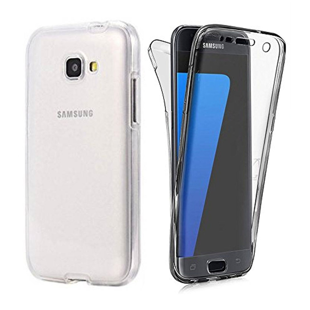 Image of   Samsung Galaxy A3 (2017) Transparent Plast Cover (Blødt) (360 Grader)
