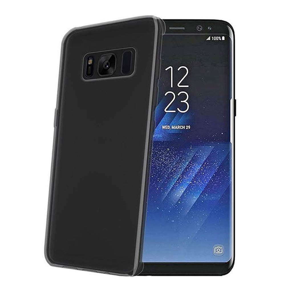 Image of   Samsung Galaxy S8 Blødt Plast Cover (Sort)