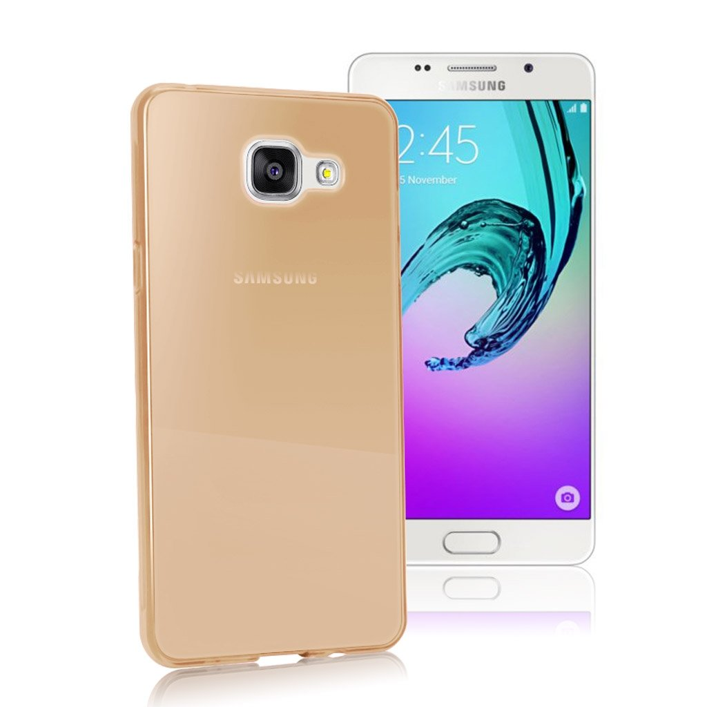 Image of   Samsung Galaxy A5 (2016) Transparent Plast Cover (Blødt) (Guld)