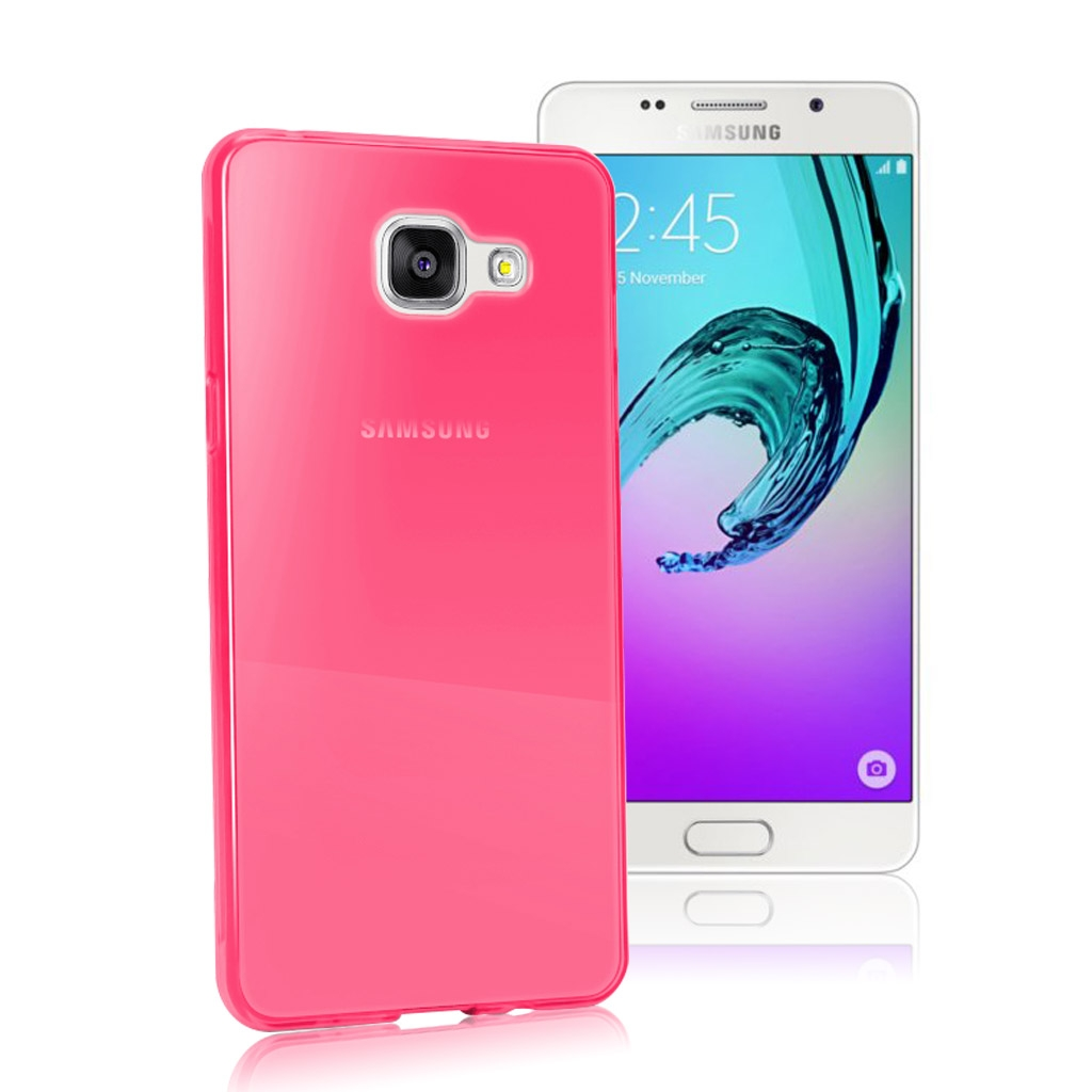Image of   Samsung Galaxy A5 (2016) Transparent Plast Cover (Blødt) (Pink)
